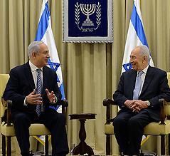 Netanyahu and Peres